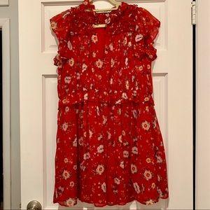 Zara Peplum V-Neck Dress